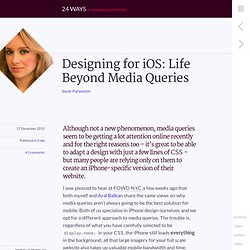 Designing for iOS: Life Beyond Media Queries