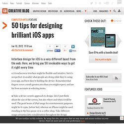 50 tips for designing brilliant iOS apps