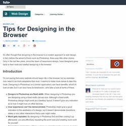 Tips for Designing in the Browser