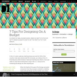 7 Tips For Designing On A Budget