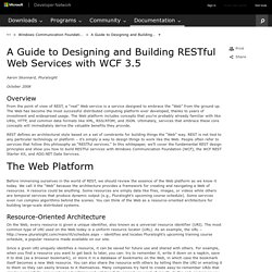 A Guide to Designing and Building RESTful Web Services with WCF 3.5