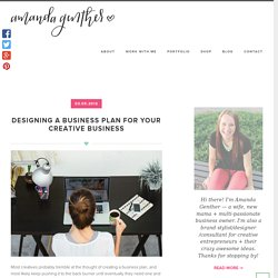 Designing a Business Plan for Your Creative Business ⋆ Amanda Genther
