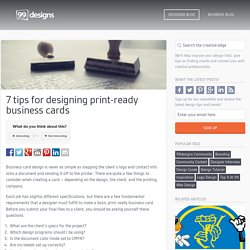 7 steps to designing a print-ready business card - Designer Blog