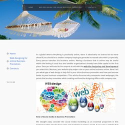 Web designing for online Business Promotion