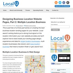 Designing Business Location Website Pages, Part 2: Multiple Location Business