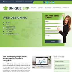 Web Designing Classes, Web Designing Course in Faridabad