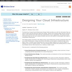 Designing Your Cloud Infrastructure