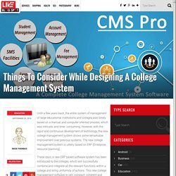 Things To Focus While Designing A College Management System