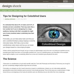 Tips for Designing for Colorblind Users