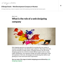 What is the role of a web designing company