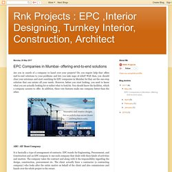 EPC Companies in Mumbai- offering end-to-end solutions