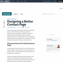 Designing a Better Contact Page