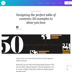 Designing the perfect table of contents: 50 examples to show you how – Learn