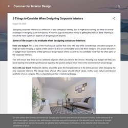 5 Things to Consider When Designing Corporate Interiors