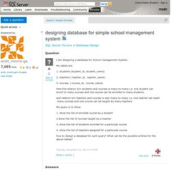 designing database for simple school management system