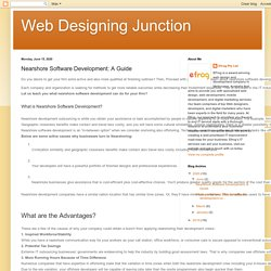 Web Designing Junction: Nearshore Software Development: A Guide
