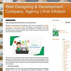 Web development facts that you should know