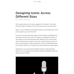 Designing Iconic Across Different Sizes