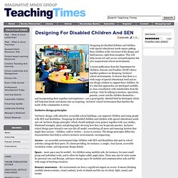 Designing for disabled children and SEN
