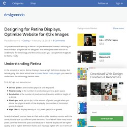 Designing for Retina Displays, Optimize Website for @2x Images