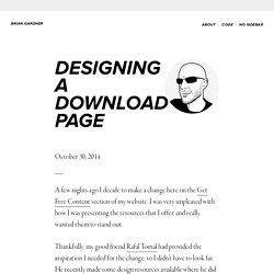 Designing a Download Page