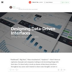 Designing Data-Driven Interfaces — Truth Labs