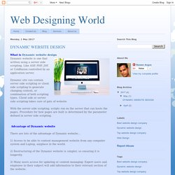 Web Designing World: DYNAMIC WEBSITE DESIGN