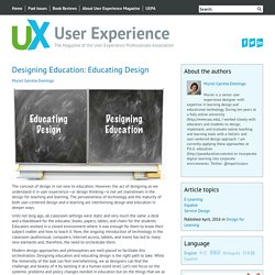 Designing Education: Educating Design User Experience Magazine