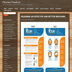 Designing an Effective and Better Brochure – Charms Pandora