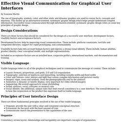 Designing Effective User Interfaces