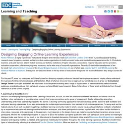 Designing Engaging Online Learning Experiences