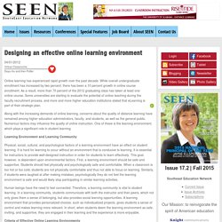 Designing an effective online learning environment