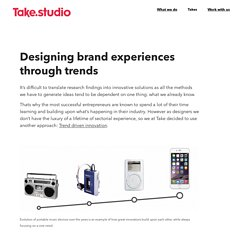 Designing brand experiences through trends – Take