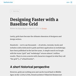 Designing Faster with a Baseline Grid