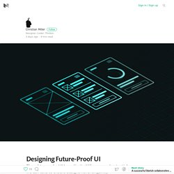 Designing Future-Proof UI – Medium