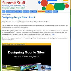 Designing Google Sites: Part 1 - Summit Stuff