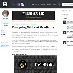Designing Without Gradients