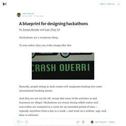 Designing hackathons