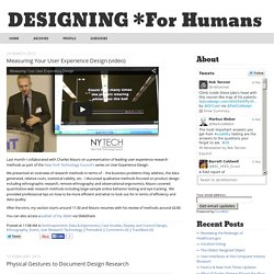 DESIGNING *for humans: Ethnography