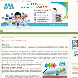 ACE WEB ACADEMY- Web Designing Training Institute: Importance of Joomla Learning