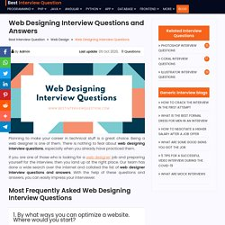 Web Designing Interview Questions and Answers 2020