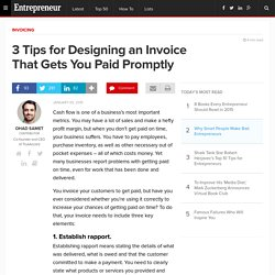 3 Tips for Designing an Invoice That Gets You Paid Promptly