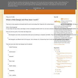 Web Designing Junction: What is Web Design and How does it work?