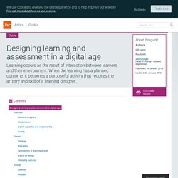 Designing learning and assessment in a digital age