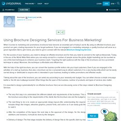 Using Brochure Designing Services For Business Marketing!: itcannyau — LiveJournal