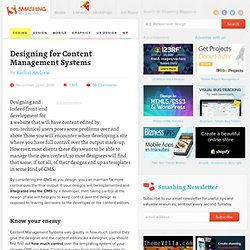 Designing for Content Management Systems - Smashing Magazine