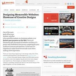 Designing Memorable Websites: Showcase of Creative Designs