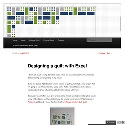 Designing a quilt with Excel