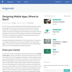 Designing Mobile Apps, Where to Start?