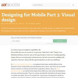 Designing for Mobile Part 3: Visual design